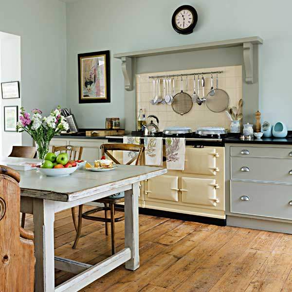 Worn Plank Floor as an example of a creative kitchen upgrade