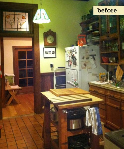before photo of the homegrown kitchen remodel