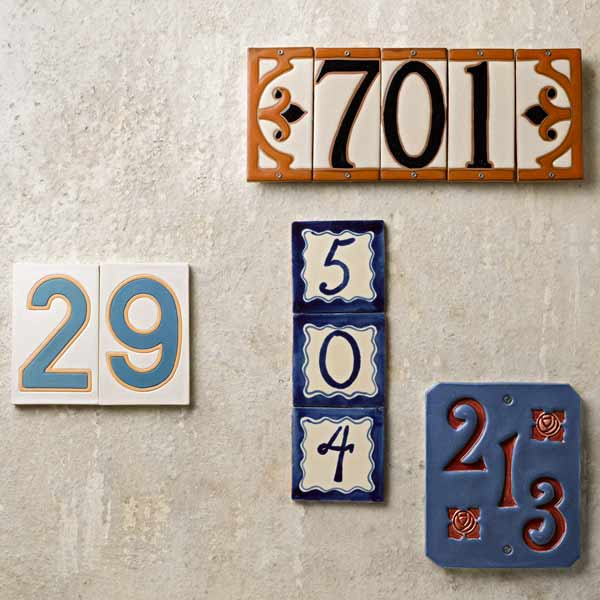 ceramic house numbers shopping