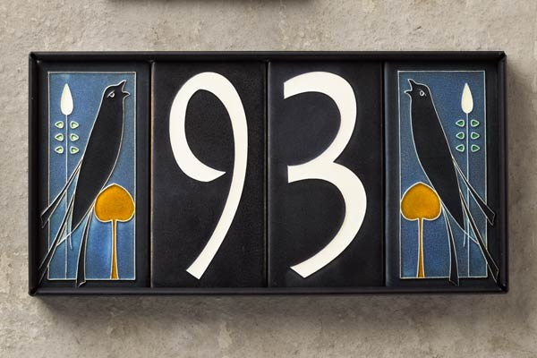 Flora and fauna ceramic house numbers this old house for House number frames