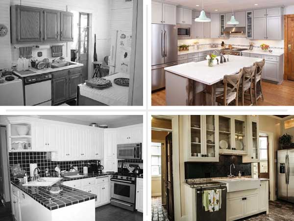 Transformed cook spaces best kitchen before and afters for Old home kitchen remodel