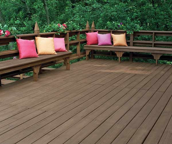 Color with visible grain exterior wood staining made for Exterior wood stain flood