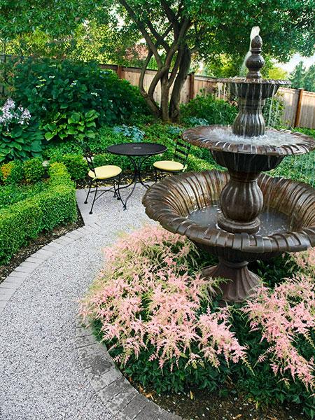 3-tiered garden fountain