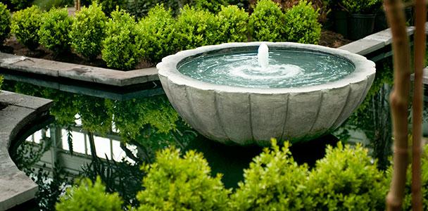 a bubbling fountain