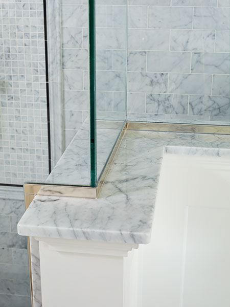 Marble Shower Ledge A Bath With Room To Move This Old