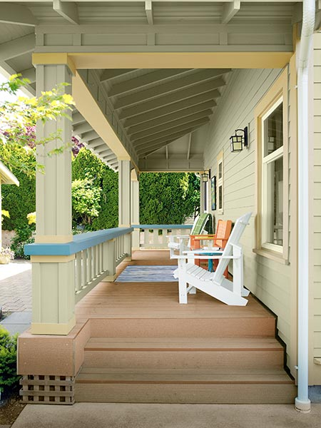 Craftsman Style Exposed Rafters From Plain To Period