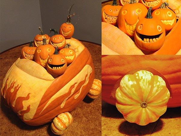 Winner Pumpkin Convertible 2015 Pumpkin Carving Contest