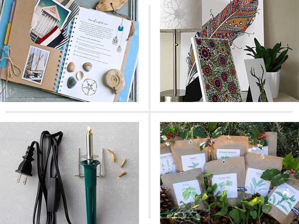composite of four diy gift ideas
