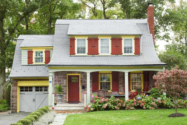 front exterior, dutch colonial revival whole house remodel