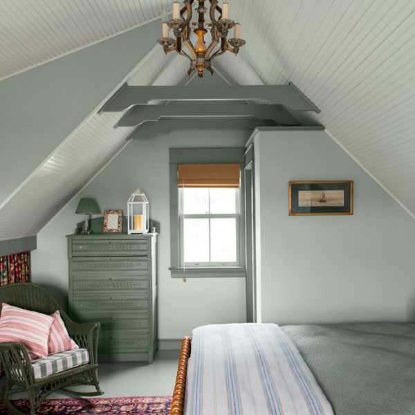 Airy Upstairs Bedroom Backyard Garage Becomes Dreamy