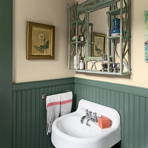Garage converted into a guest cottage guest bathroom for Backyard guest house with bathroom