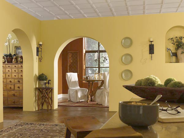 Warming walls color of the month march 2015 custard for Yellow painted rooms