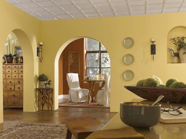 Custard Yellow Kitchen Walls
