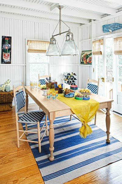 cheery relaxing dining area create a cottage dining