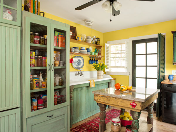 A Kitchen With Vintage Character: Salvage Finds Fit Cottage Style: After