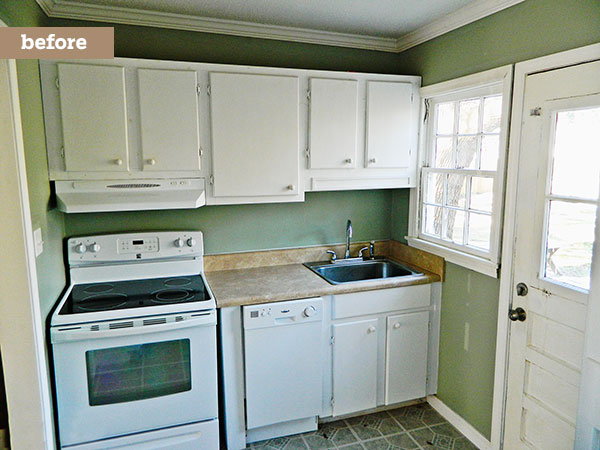 A Kitchen With Vintage Character: Much-Needed Space, Style: Before