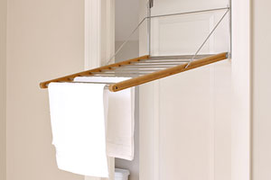 door-mounted drying rack