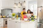 Belmont Victorian house project kitchen with the Bicer family