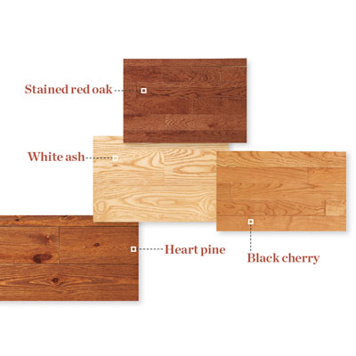 samples of domestic wood flooring