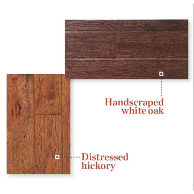 samples of distressed wood flooring