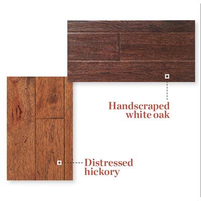samples of distressed wood flooring
