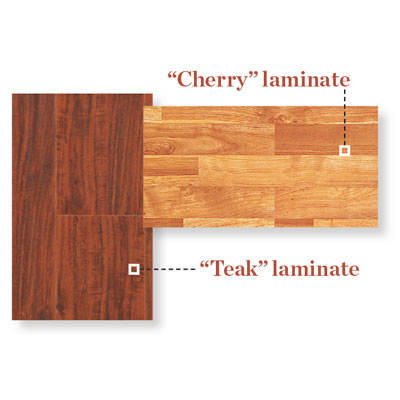 samples of laminate flooring