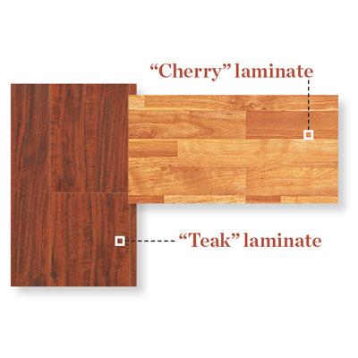samples of laminate flooring