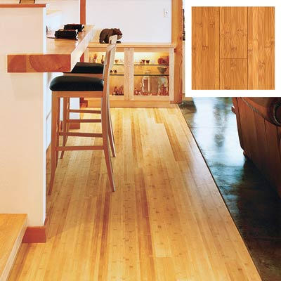 bamboo floor in a kitchen