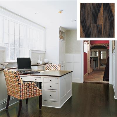 engineered beech floor in a home office