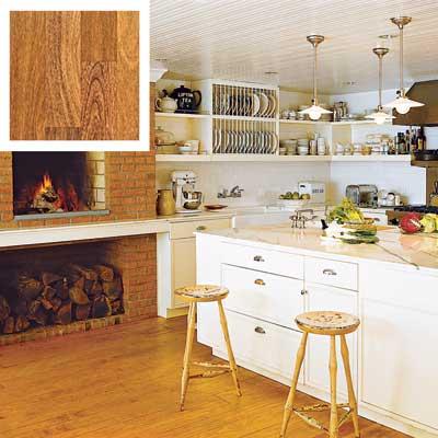 Brazilian chestnut floor in a kitchen