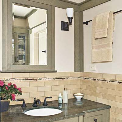 bathroom remodel in a Craftsman style aesthetic