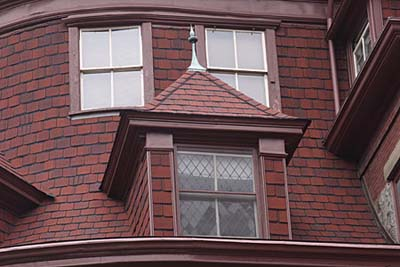 Leaded dormer window