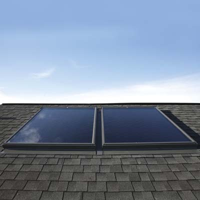 solar panels on shingled roof