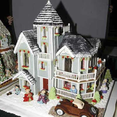 queen anne-style gingerbread house