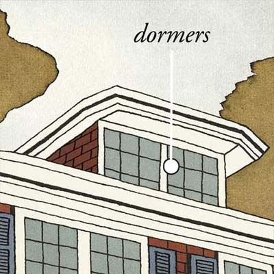 dormers pull up warm air that builds inside the house