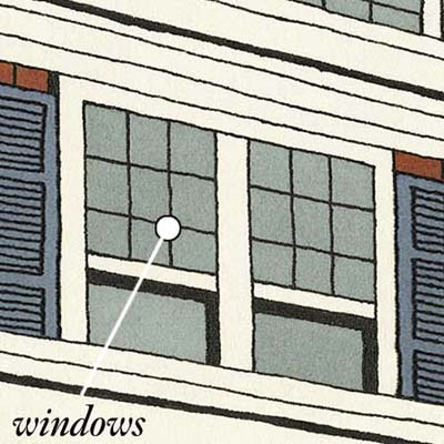 windows control the amount of sunlight and air entering a room