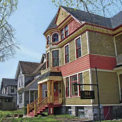 an old Victorian in The Vine neighborhood, Kalamazoo, Michigan