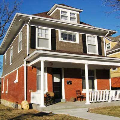 an Arts and Crafts house in the Southmoreland Neighborhood, Kansas City, Missouri