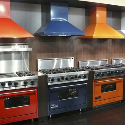 colored ooking ranges from Viking