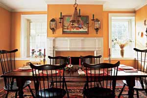a Colonial-style dining room