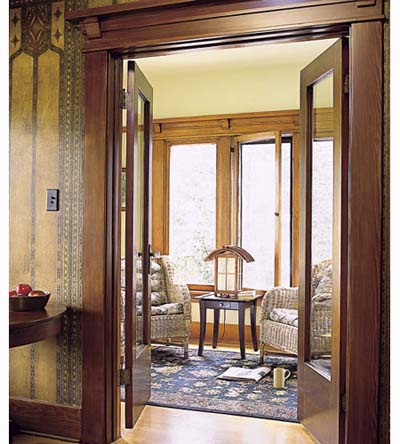 Restored French doors