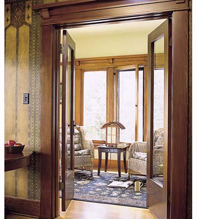 Restored French doors