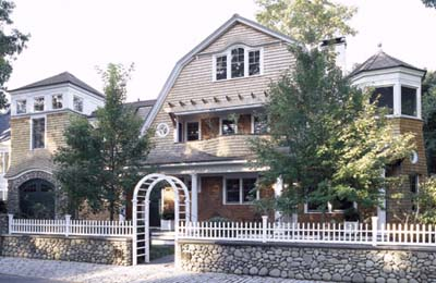 new Shingle-style house exterior