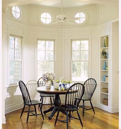 informal dining area in new Shingle-style house