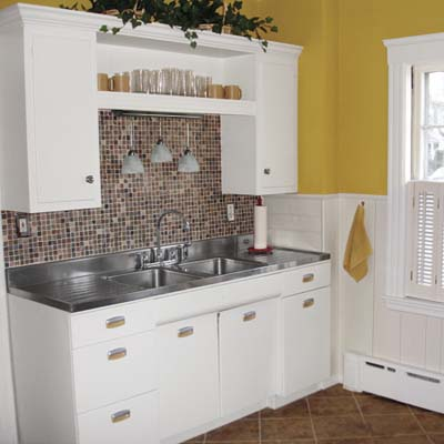 a kitchen remodeled drastically on a very small budget
