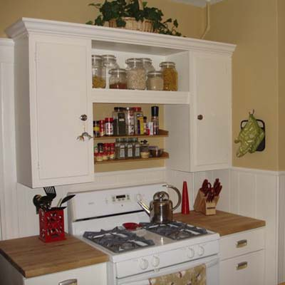 a remodeled kitchen stove area