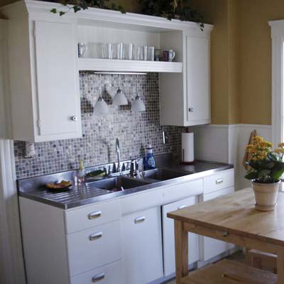 remodeled kitchen with stainless steel switchplate and outlet