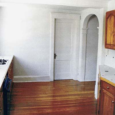 before image of a remodeled kitchen