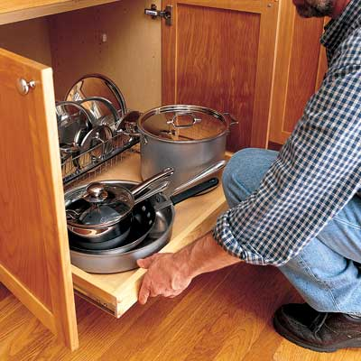 Installing a pull-out shelf