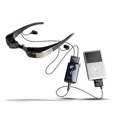 personal media viewing device looks like a pair of glasses